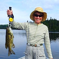 Trophy Smallmouth Bass by Ollie Fishing at Fireside Lodge